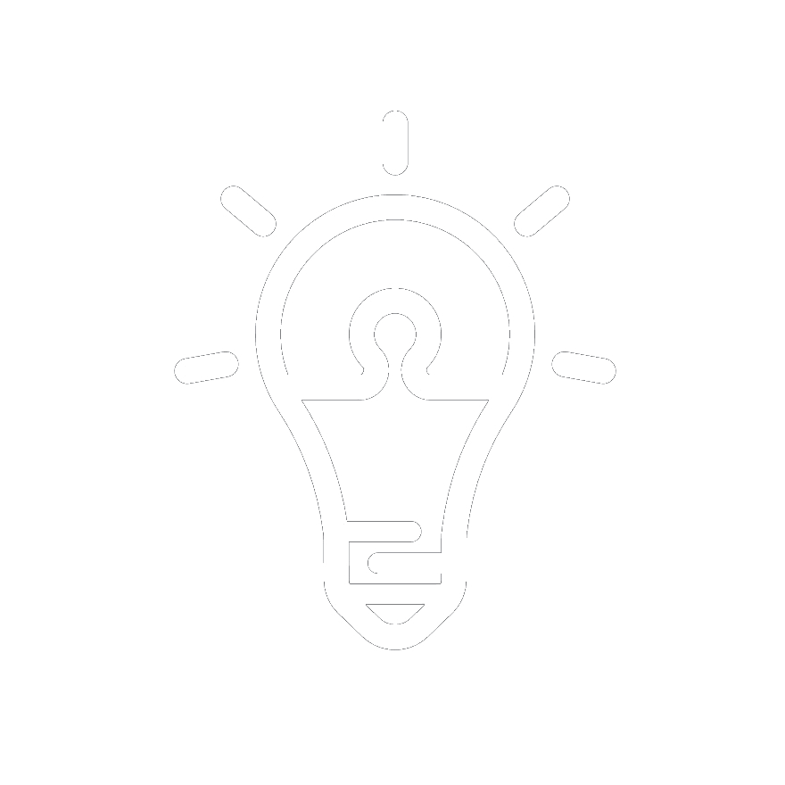 an icon shows a lightbulb that indicates being creative | DEANLONG.io