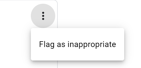 Flag review as inappropriate - Example from Google