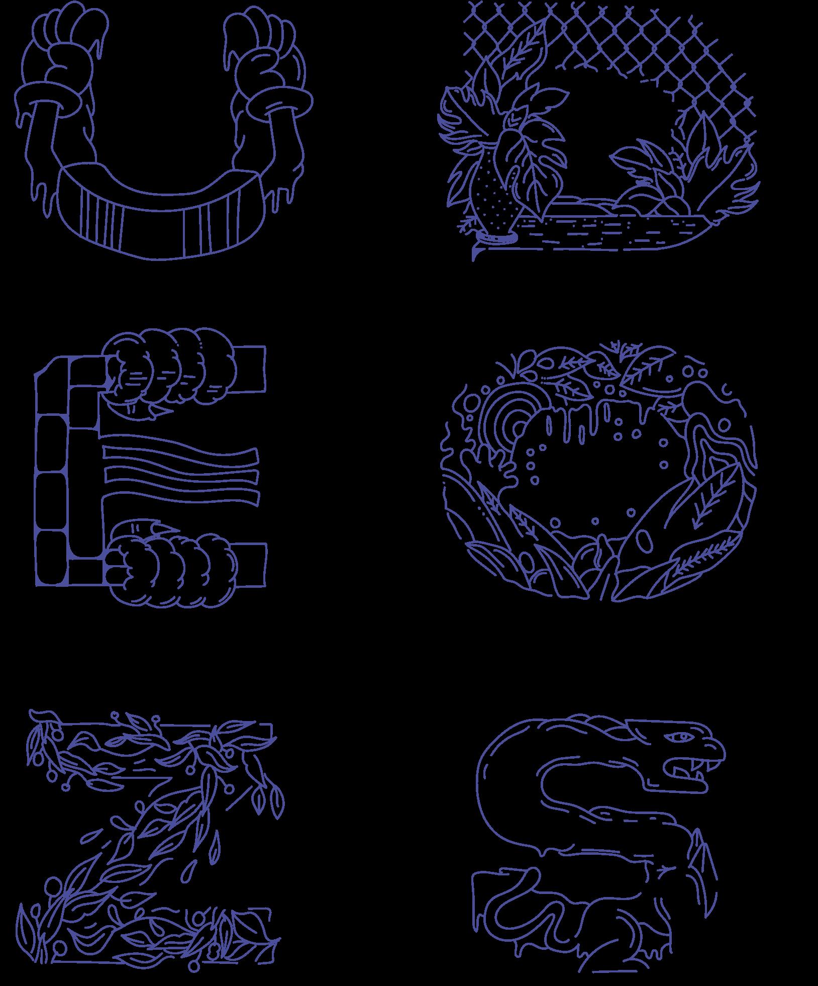 Alphabet blue