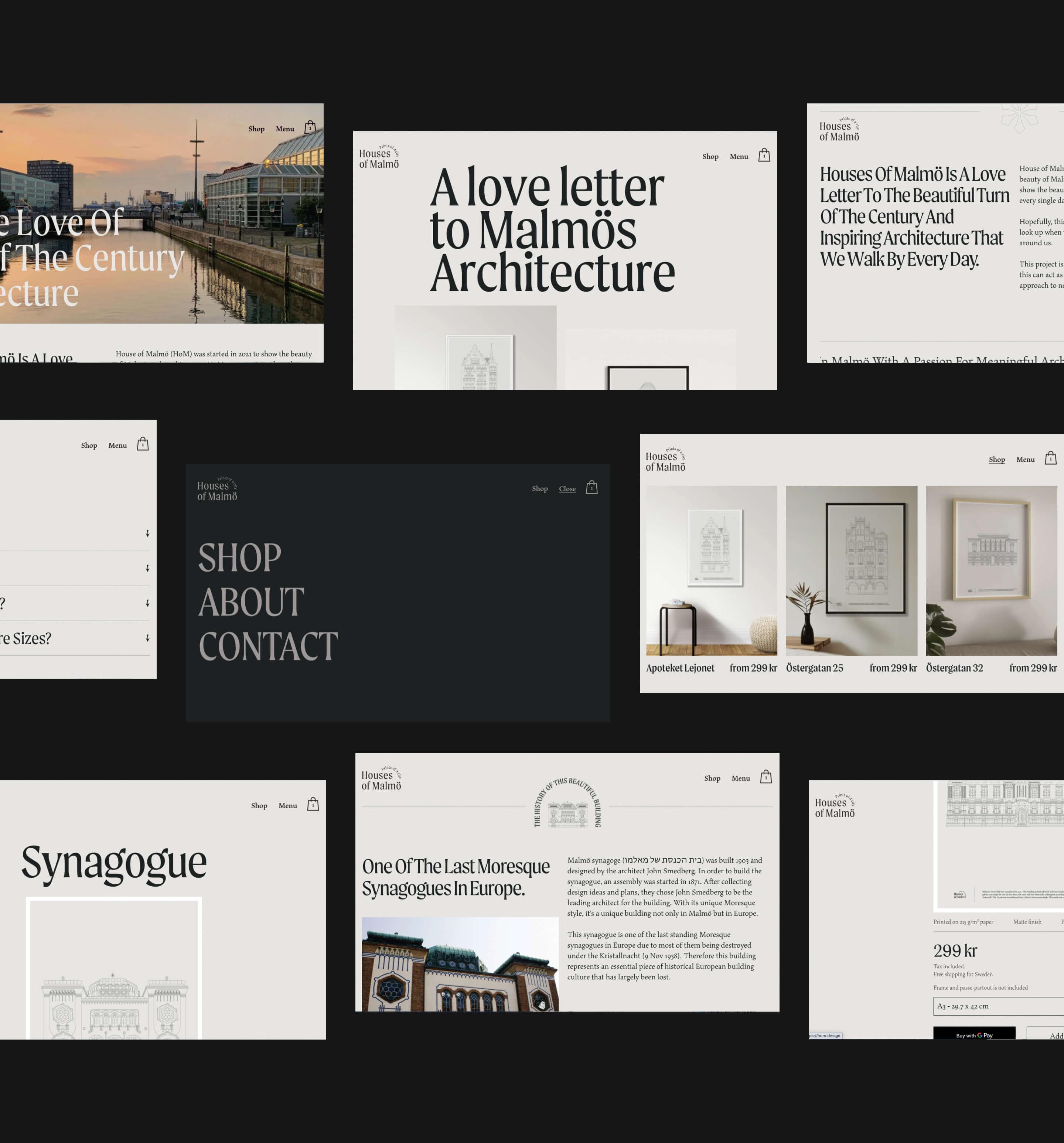 Houses of Malmö web design