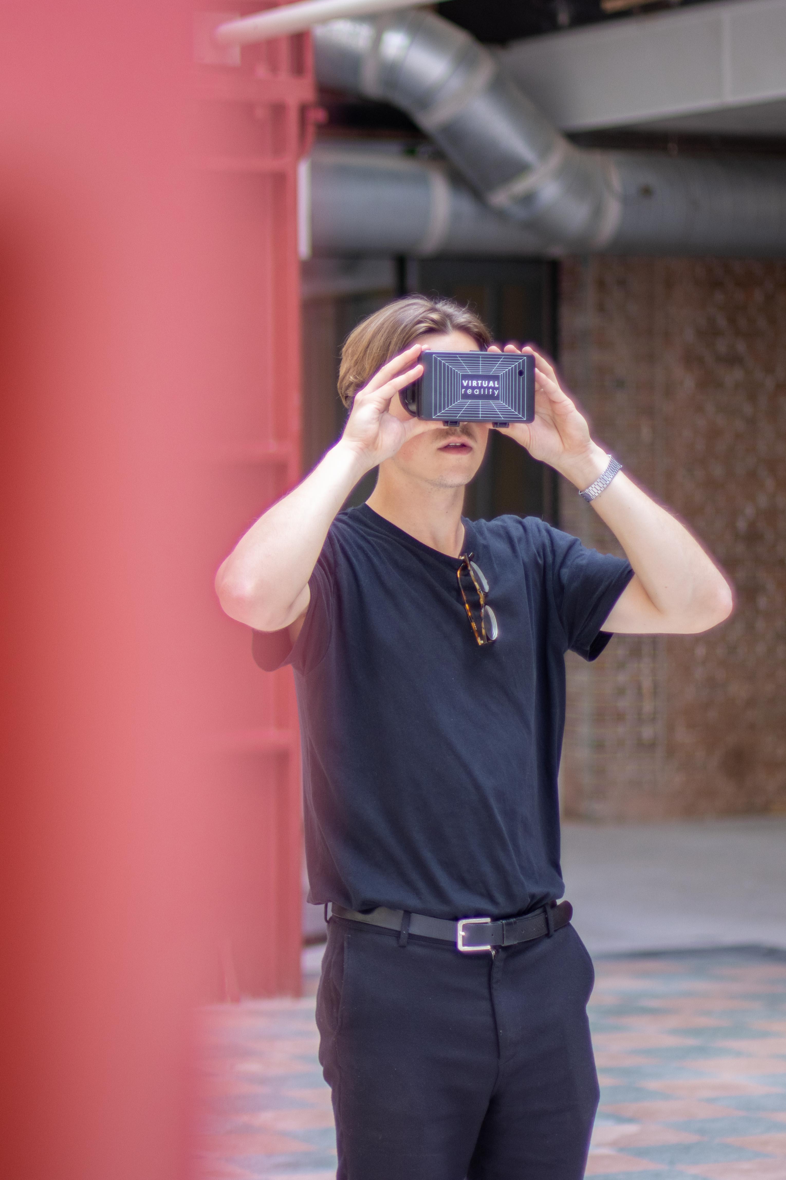 Ruben van de Vormbrouwers met VR-bril
