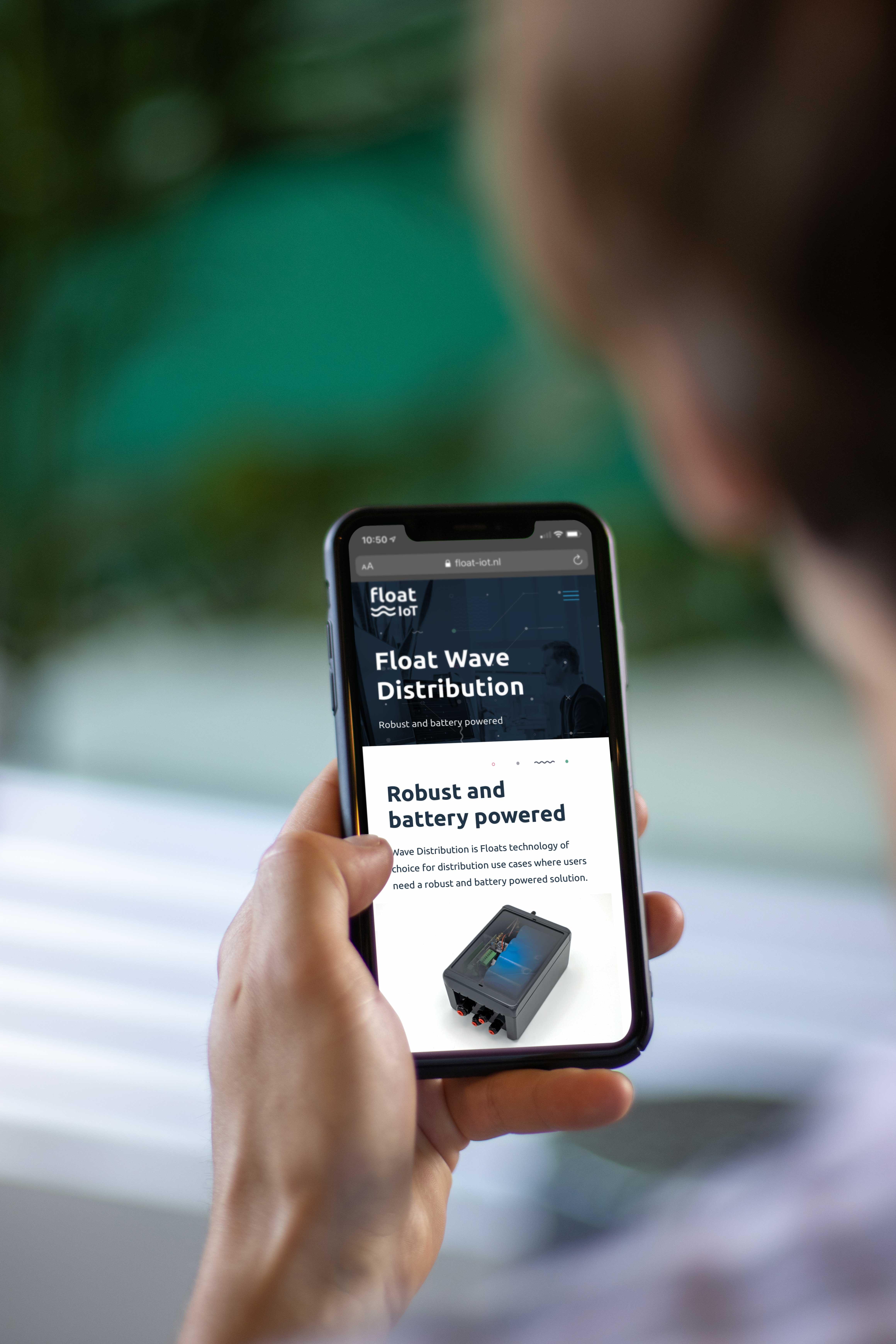 Float IoT responsive website mockup