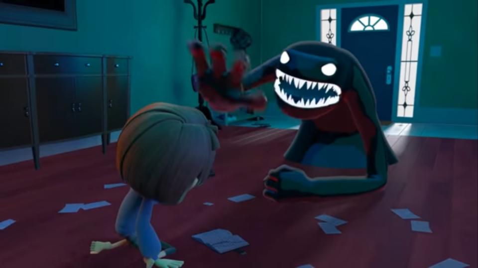 """""""Spell Bound"""" is an animated short film about a lonely girl, Rene, who is jealous of her perfect sister Sunny but must save her after writing negative thoughts in her diary that unexpectedly transform into monsters."""