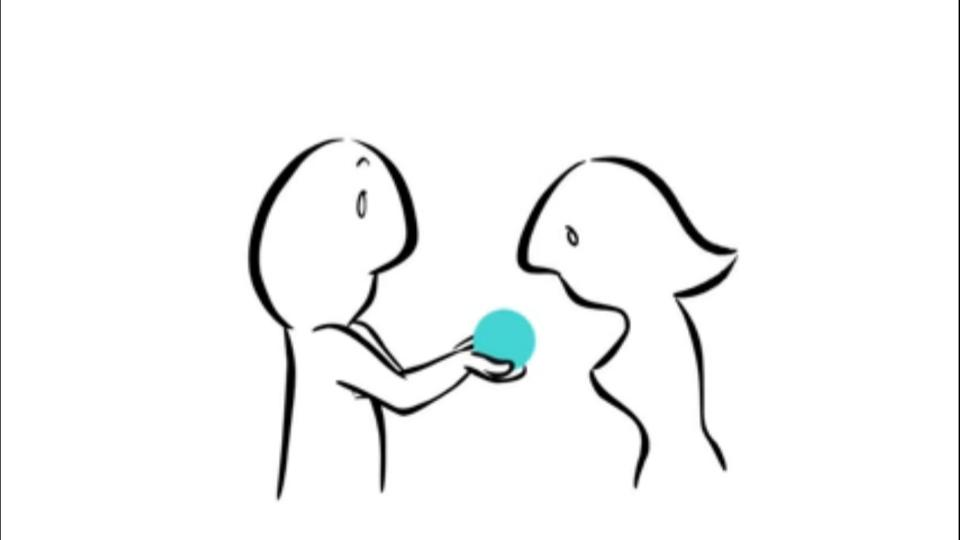 The Gift is the story of an ordinary couple, when he gives her a small sphere pulled out his chest, she can't separate herself from her new gift, even after they break up.