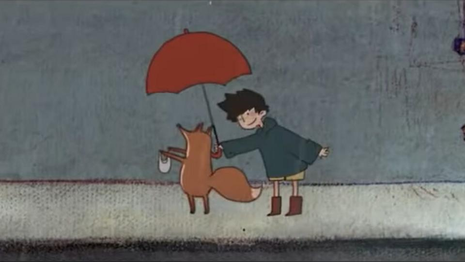 The animation tells the story about a little boy who meet a fox in a rainy day. The fox wants to collect water from the city, so little boy helps the fox with his plight and accidentally he found another world where is the little fox come from.