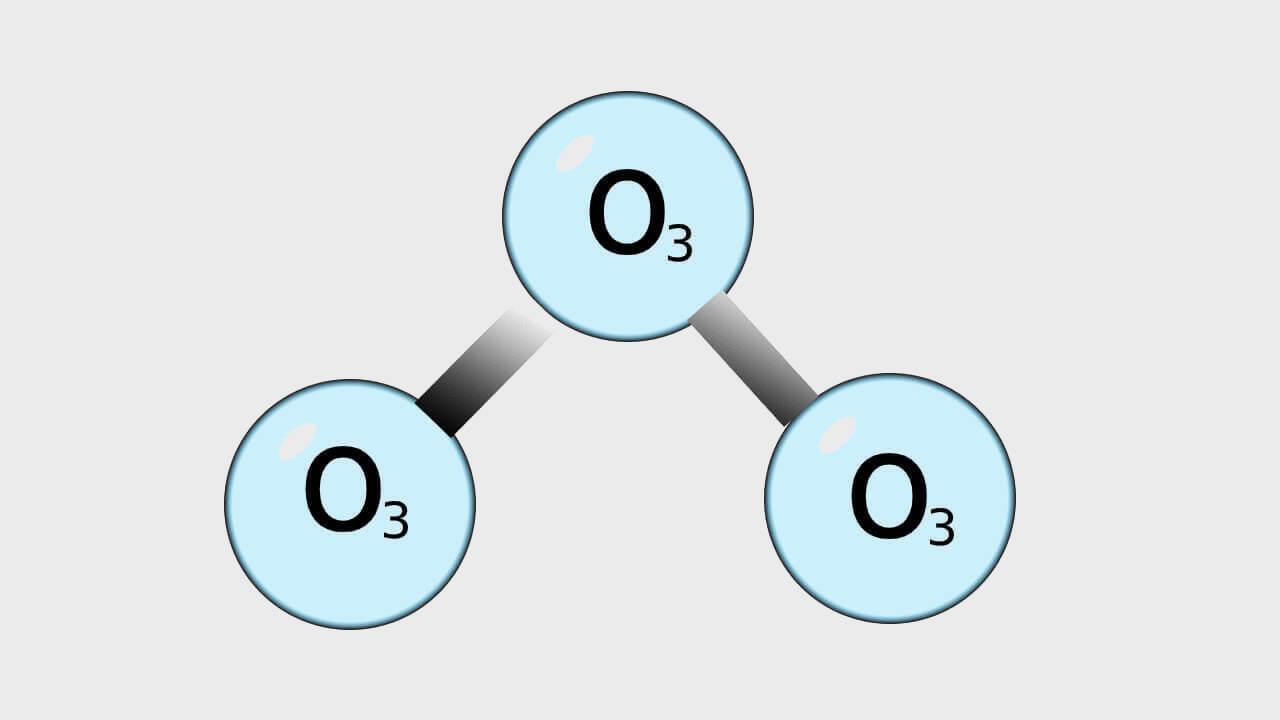 Disegno di una molecola di ozono