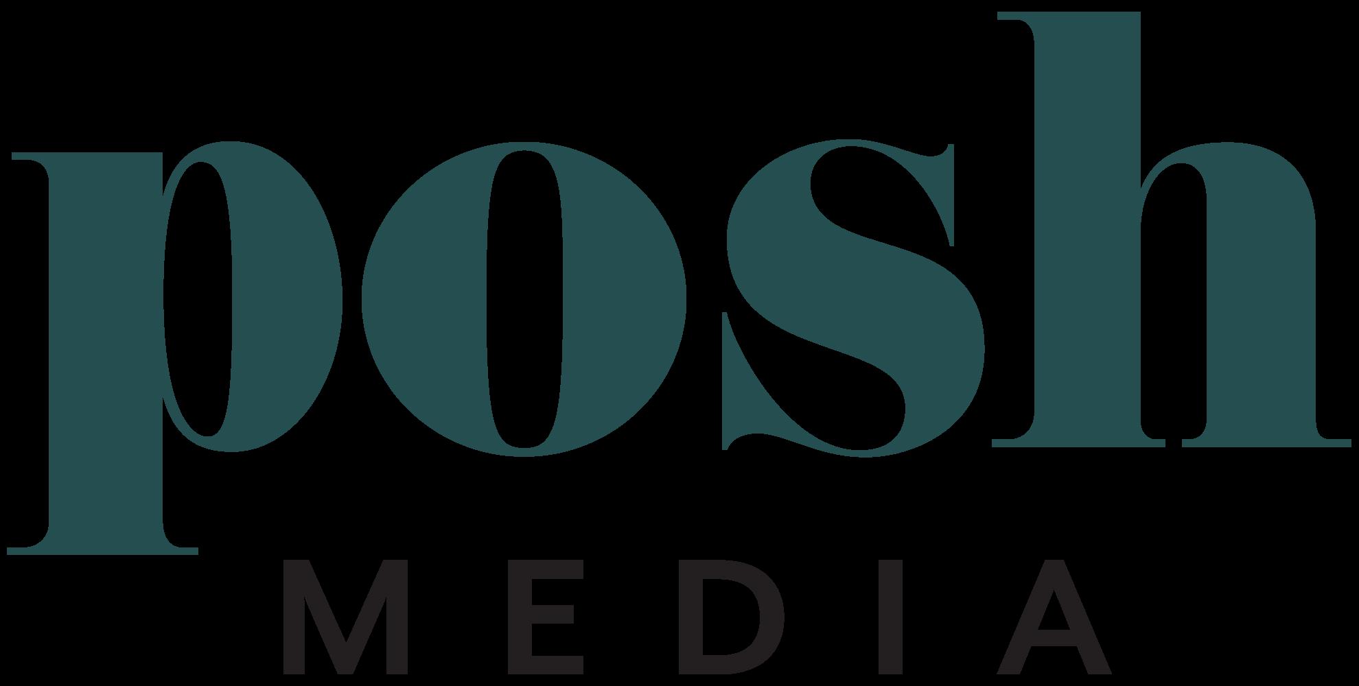 Green posh media logo