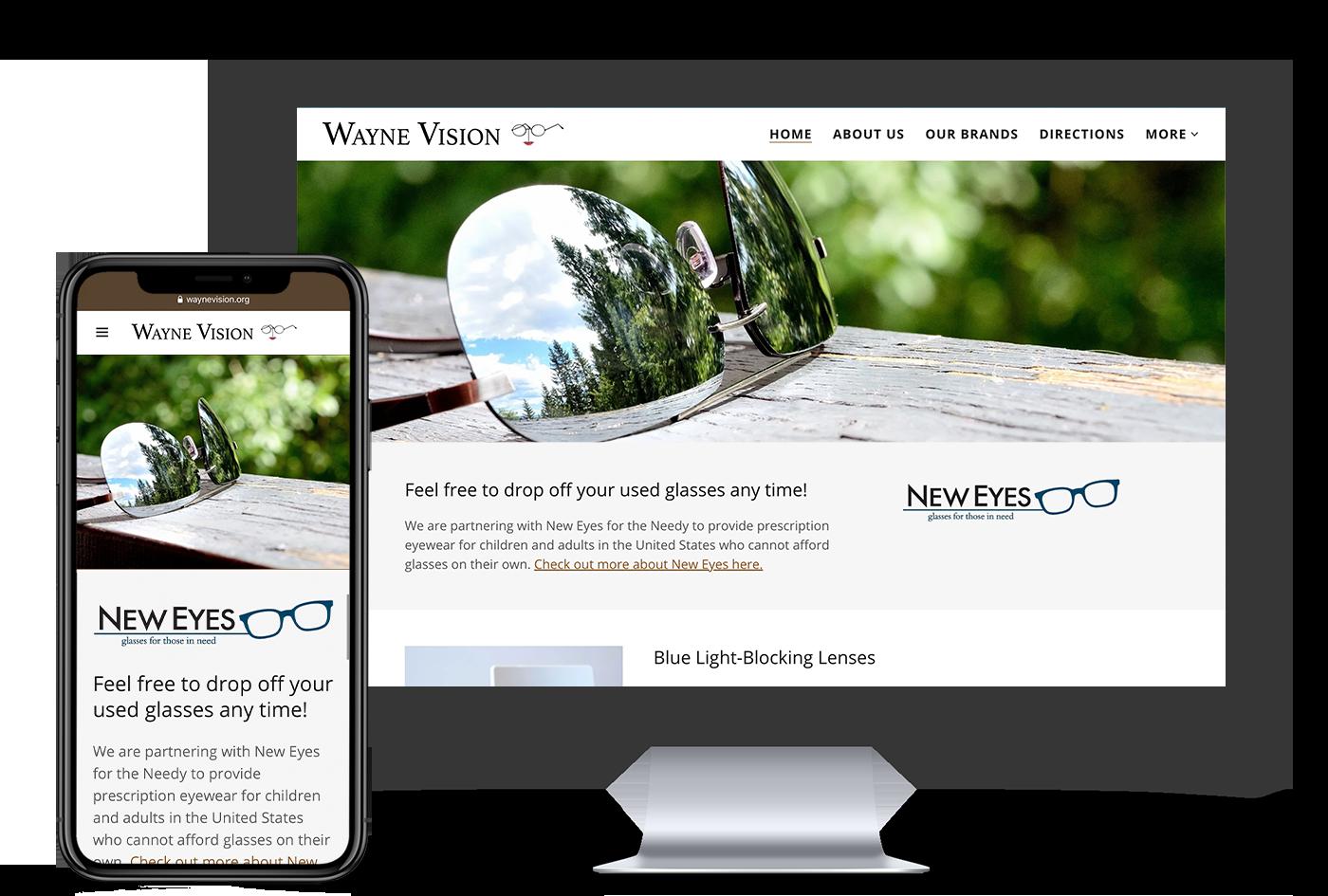 Wayne Vision website