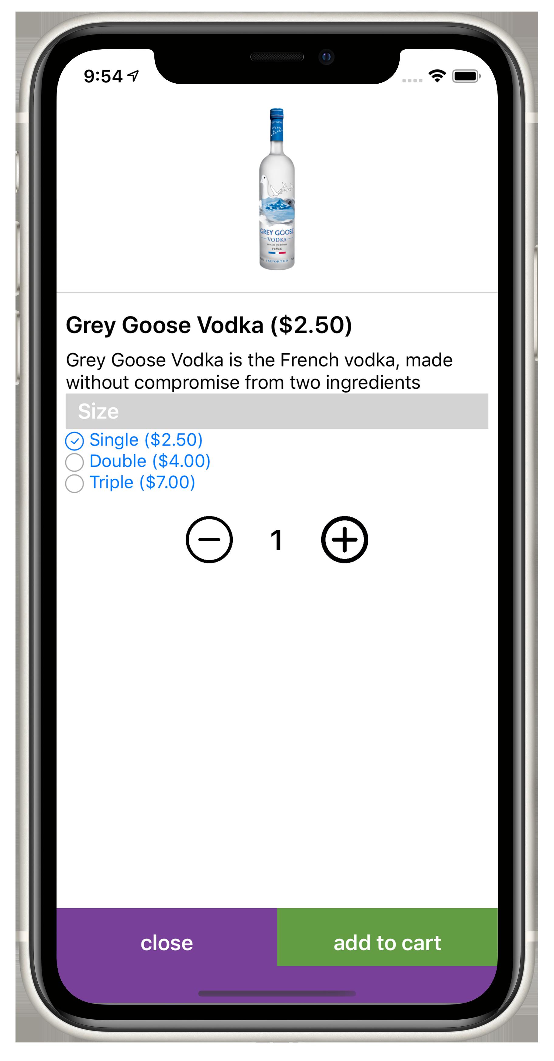 Add beverage cart inventory