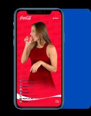 Custom coca-cola trivia game on an iphone