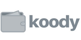 Koody logo in grey