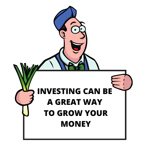 Grow your money with investing sign