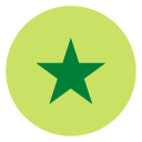 A green star
