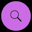 A black search icon