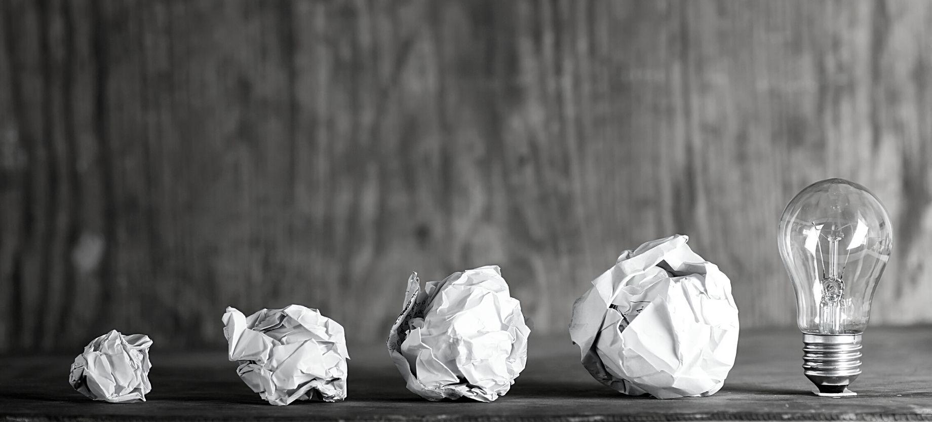 Paper Balls and a Light Bulb