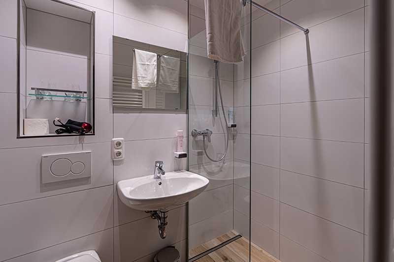 Badezimmer im Hotel casa Maria