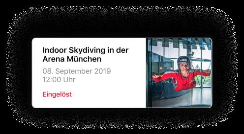 Indoor Skydiving in München. Sichere dir dein Ticket in der Jochen Schweizer NOW! App.