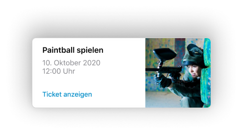 In dir schlummert ein rchtiger Meisterschütze? Dann zeige dein Talent beim Paintball spielen und sichere dir easy & schnell dein Ticket in der Jochen Schweizer NOW! App!