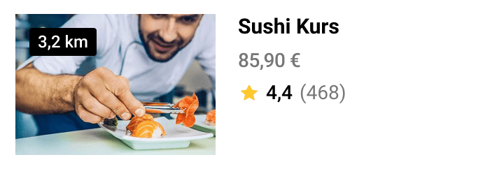 Buche deinen Sushi Kurs mit der Jochen Schweizer NOW! App.