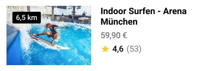 Auf zum Indoor-Surfen nach München! Buche direkt dein Ticket und sicher dir den WOW!-Effekt NOW!