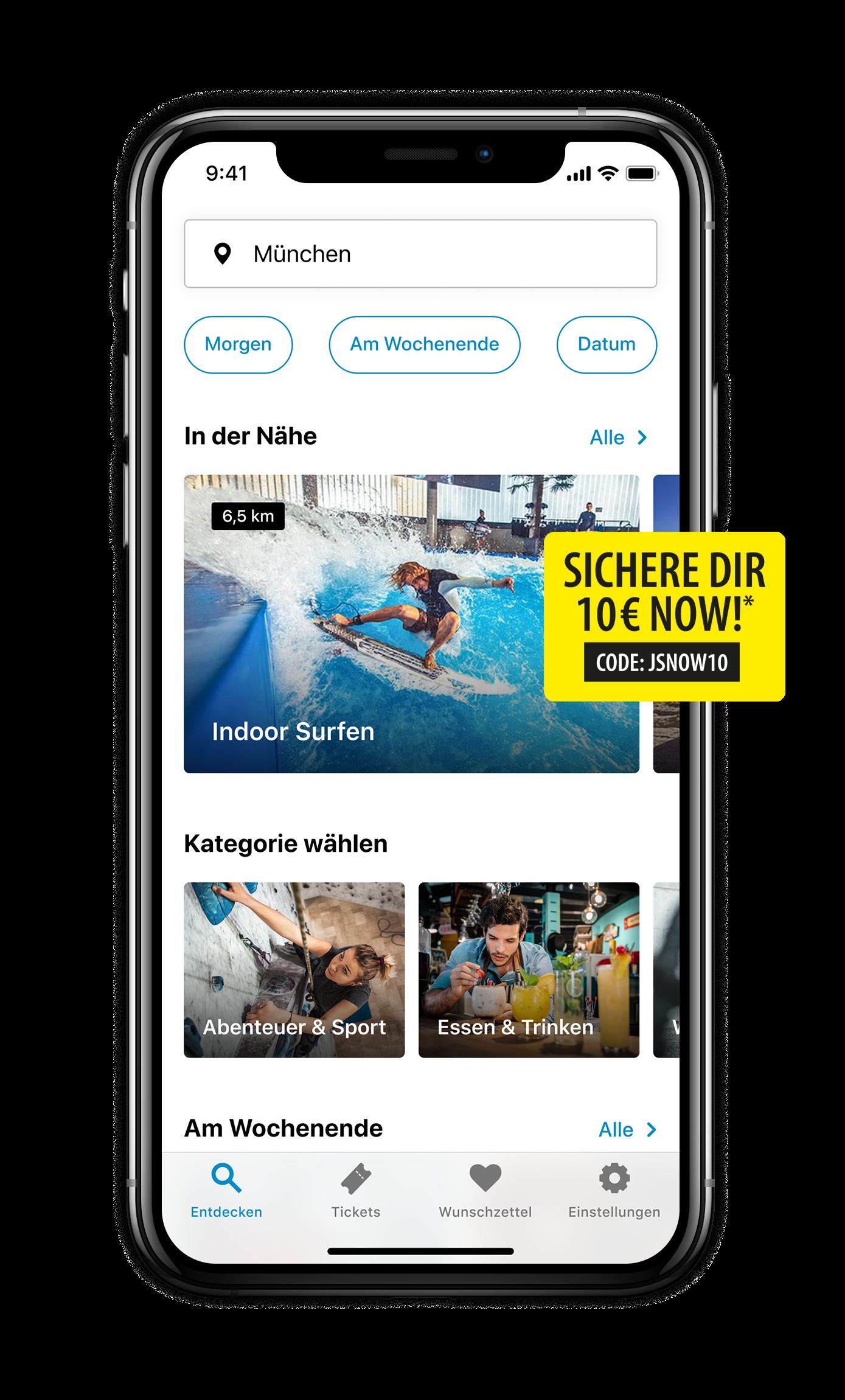 Jochen Schweizer Now iPhone Home