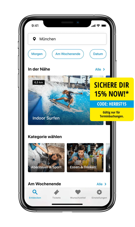 Lass dich von mehr als 3.000 Erlebnissen in deiner Nähe in der kostenlosen Jochen Schweizer NOW! App inspirieren.