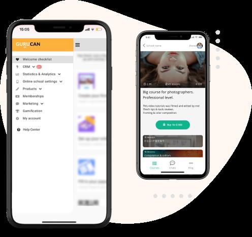 Gurucan mobile admin panel
