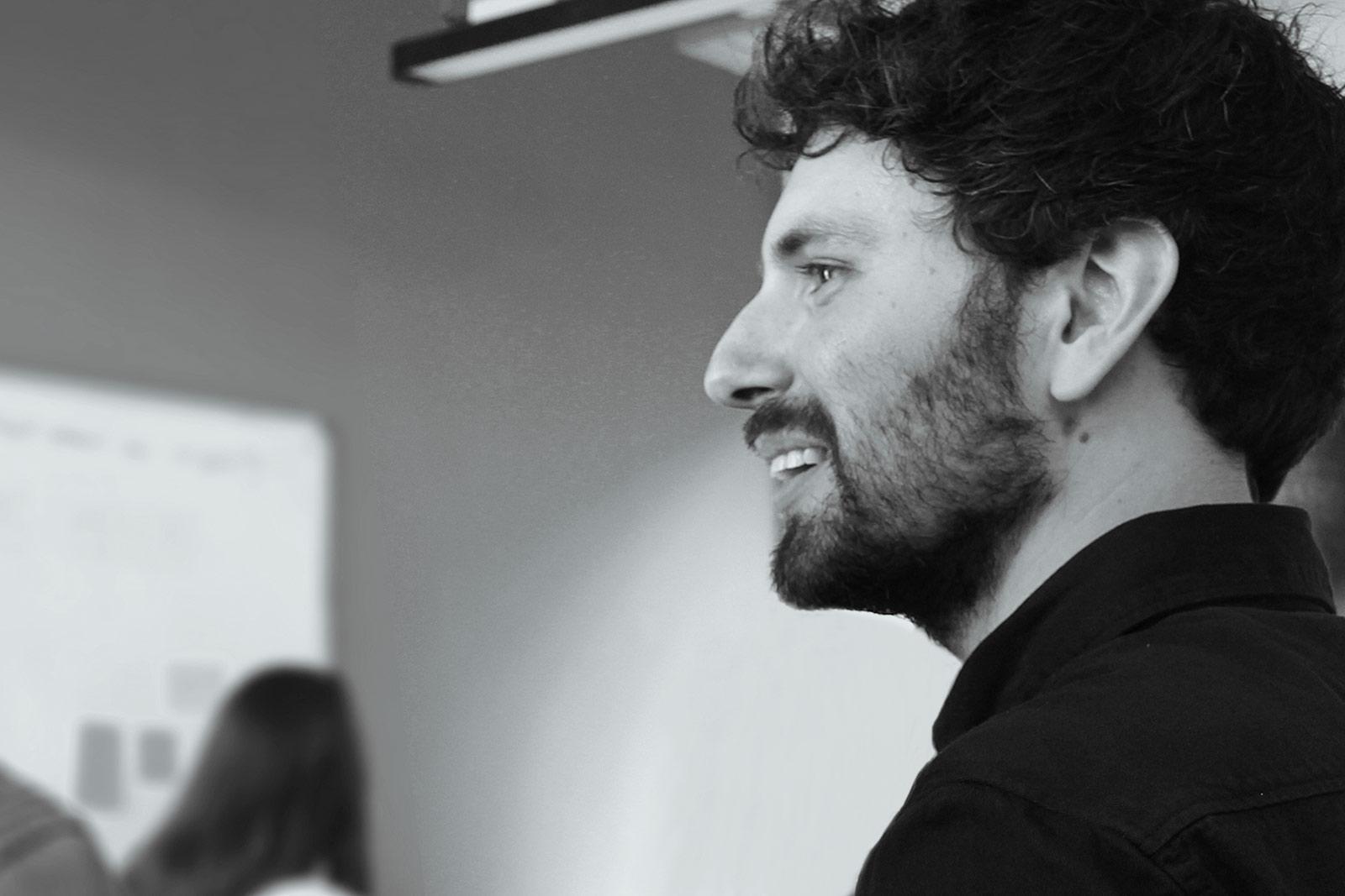 Photograph of Thomas Prior, a digital product designer