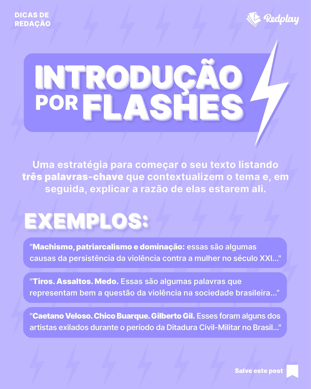 Introdução por Flashes