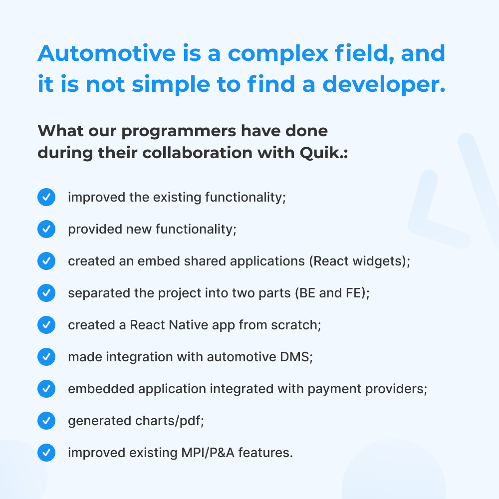What our programmers have done for Quik.