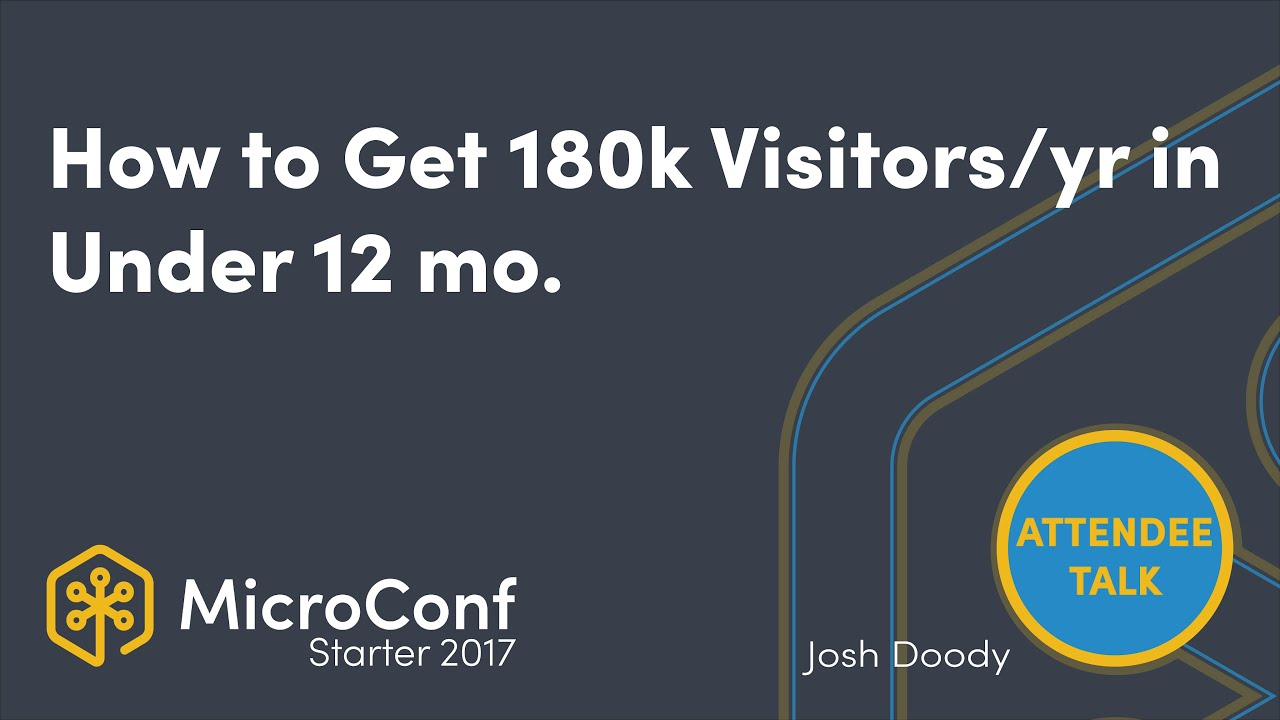 How you can get to 180,000 visitors a year in under 12 month