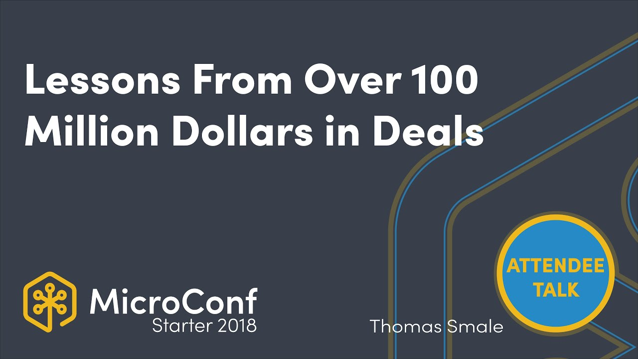 Lessons From Over 100 Million Dollars in Deals