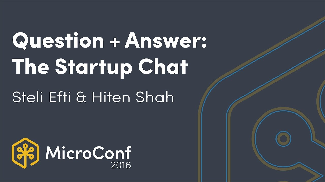Question + Answer: The Startup Chat