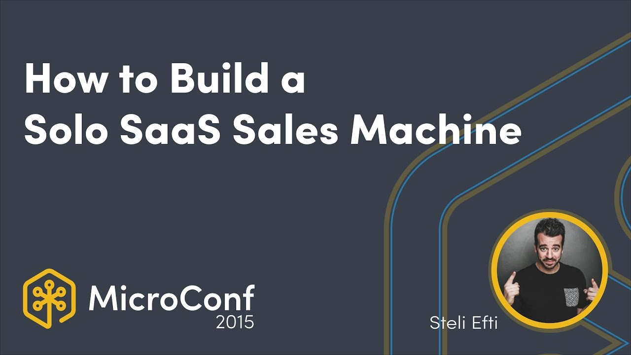 How to Build a Solo SaaS Sales Machine