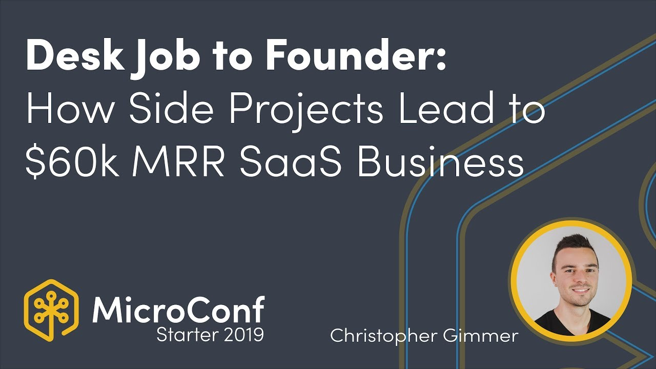 From Desk Job to Founder: How Side Projects Lead to $60k MRR SaaS Business