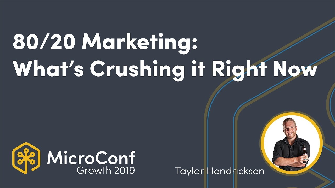 80/20 Marketing: What's Crushing it Right Now