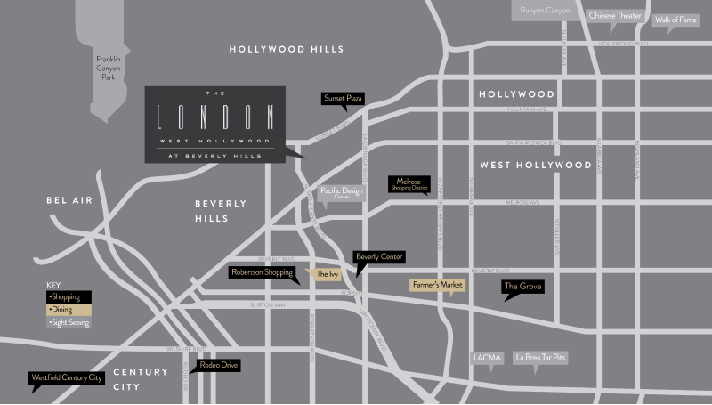 directions to london west hollywood