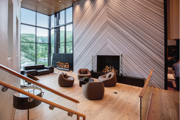 resort living room at auberge