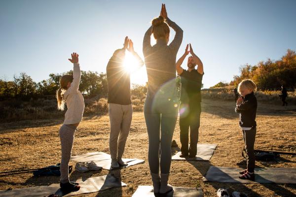 yoga at auberge resort