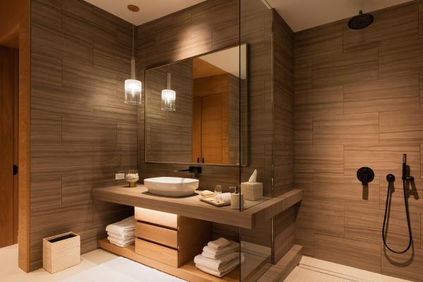 bathroom in bsk auberge
