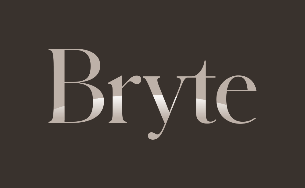 bryte logo on dark background