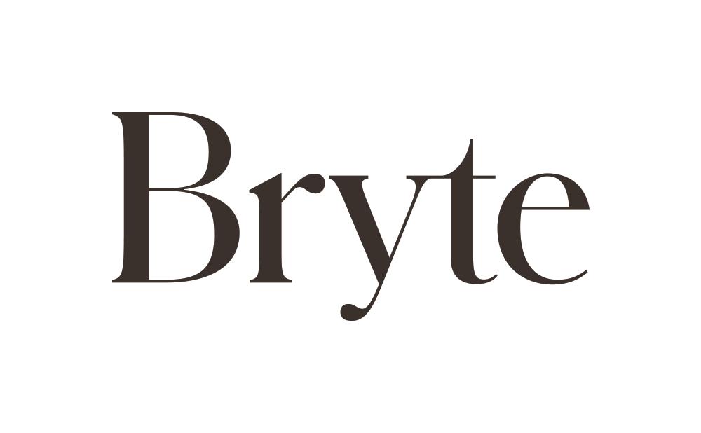 logo of bryte in white bg