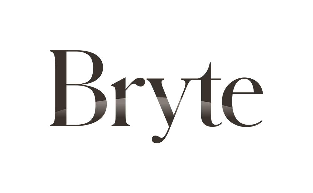 bryte logo in white background