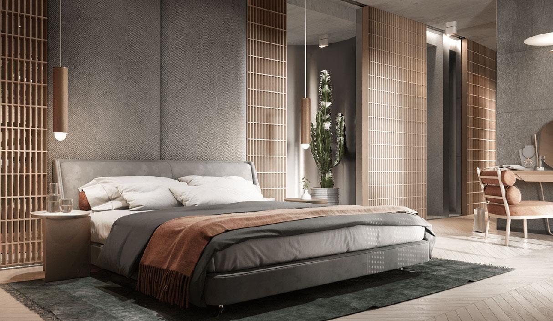 Restful hotel room