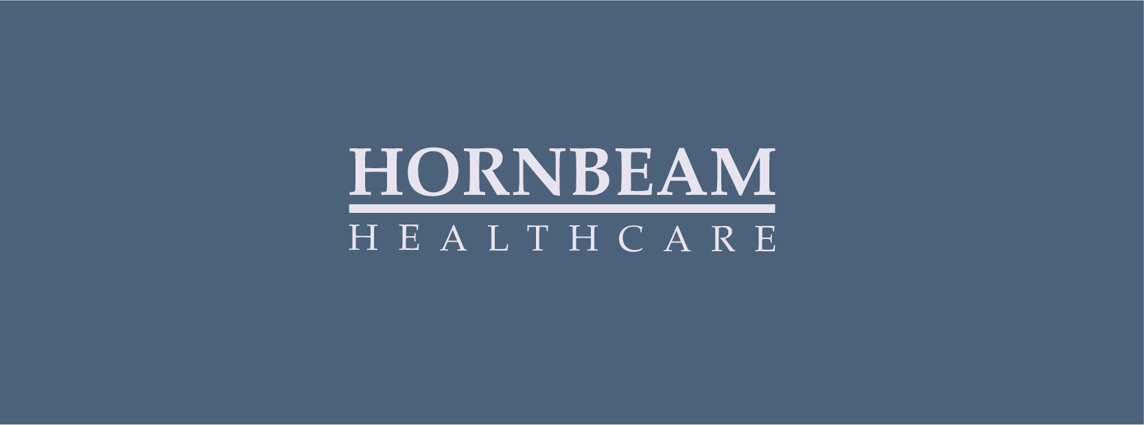 Healthcare brand in blue