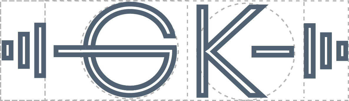 GK logo for fitness brand
