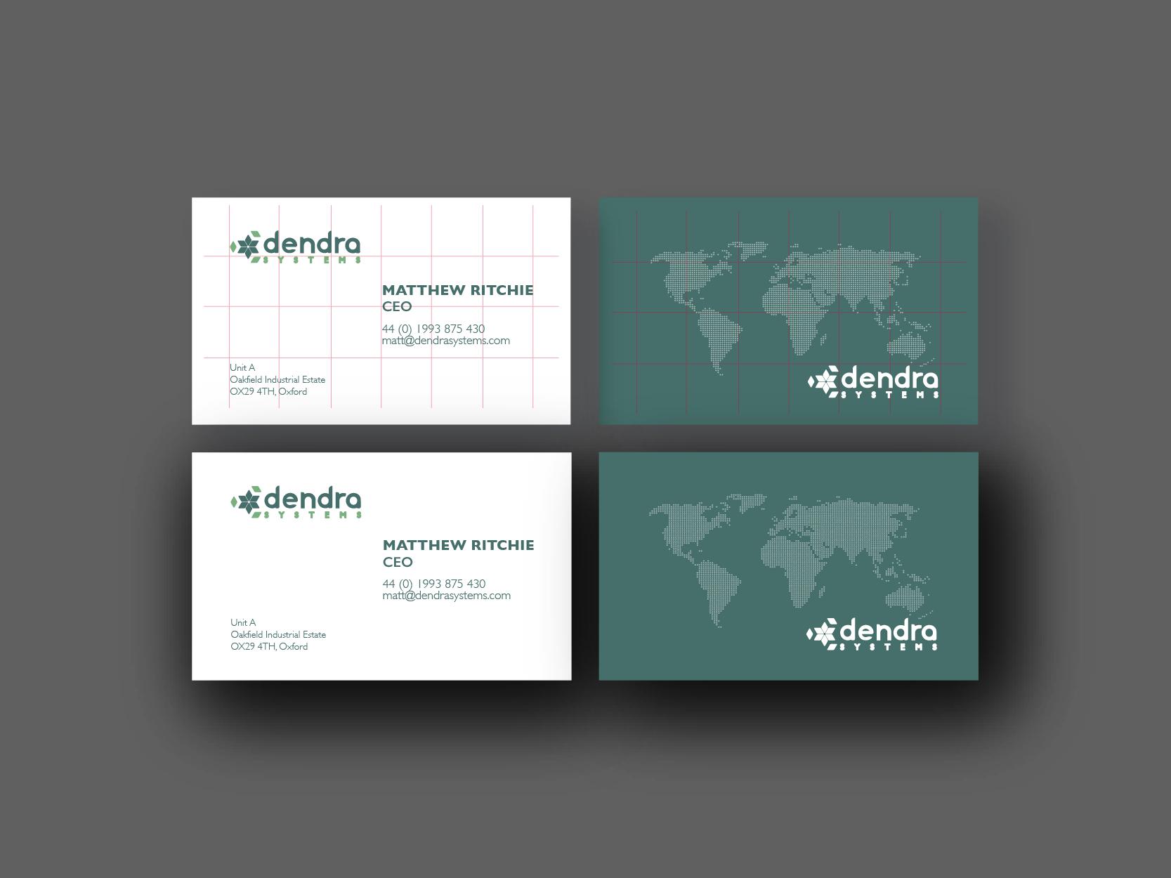 brand design on business cards