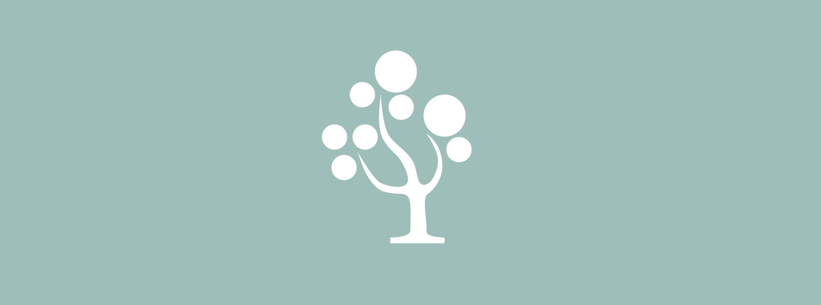 Mint green branding tree