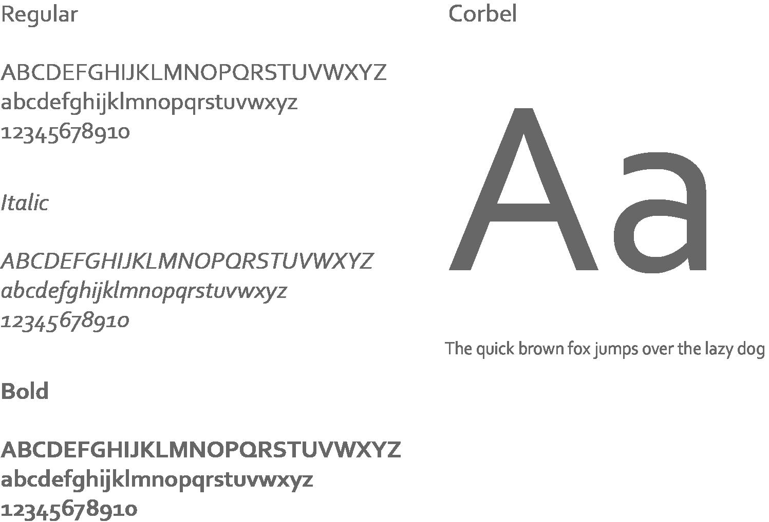 Corbel typography