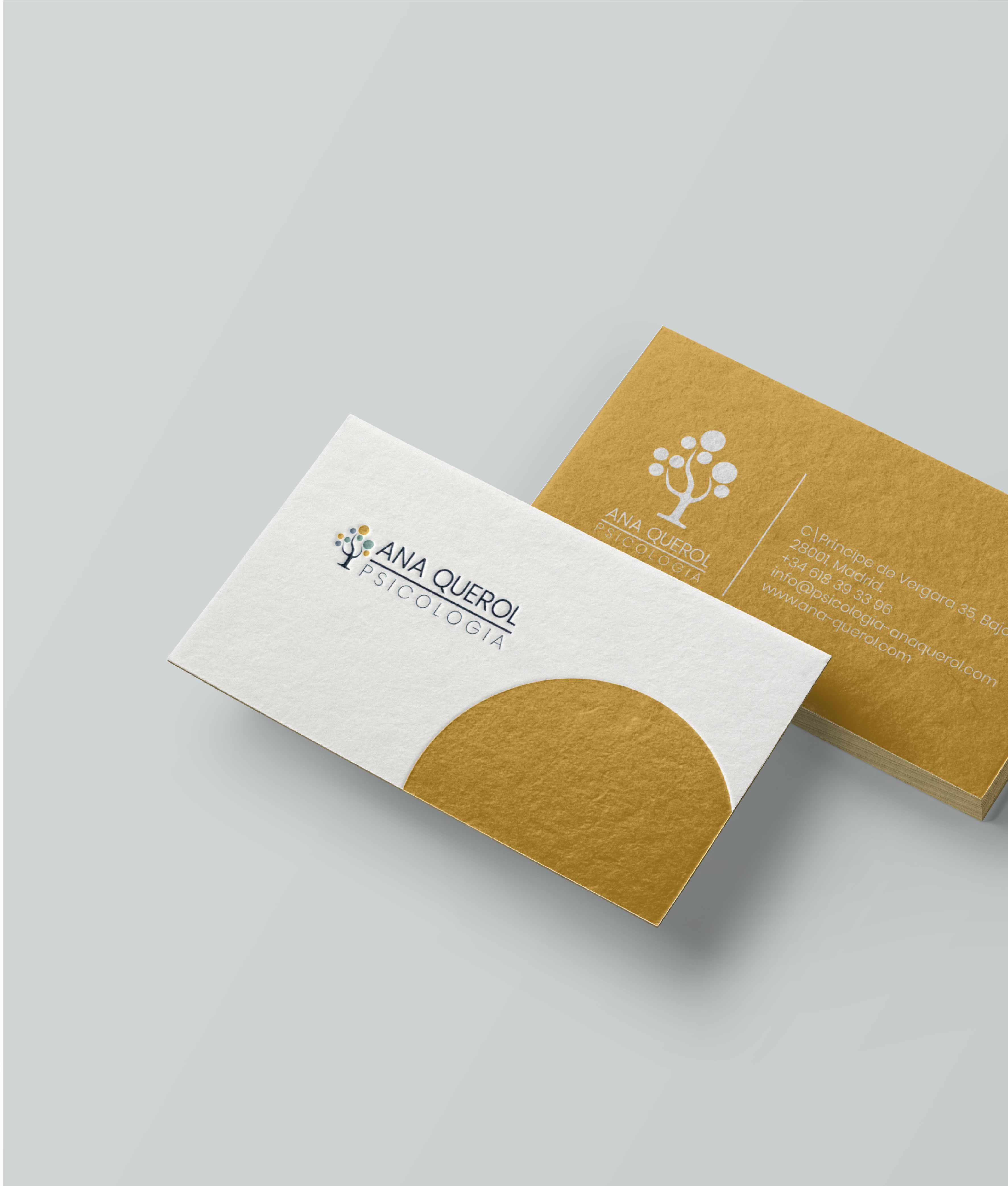 business card design in yellow